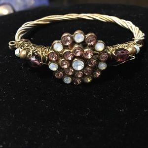 Wired twist bracelet